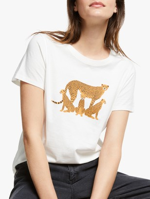 People Tree X BBC Earth Cheetah T-Shirt, White