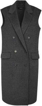 Max Mara Double Breasted Wool Long Vest