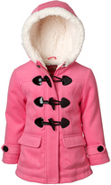Pink Platinum Pink Hooded Toggle Jacket - Infant & Girls