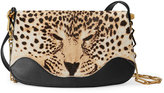 Gucci Leopard print shoulder bag - women - Leather/Suede/Calf Hair/metal - One Size