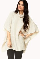 Forever 21 Textured Knit Sweater Cape