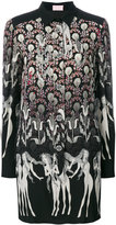 Giamba printed buttoned dress