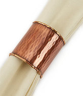Southern Living Hammered Copper Tube Napkin Ring