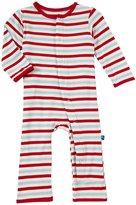 Kickee Pants Print Coveralls (Baby) - Balloon Stripe-0-3 Months