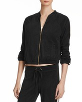 Juicy Couture Black Label Microterry Stripe Track Jacket