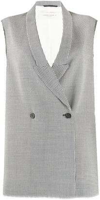 Golden Goose Houndstooth Sleeveless Jacket