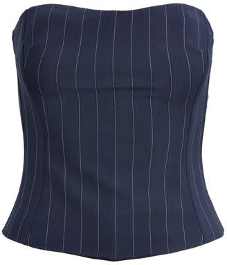 Ralph Lauren Eliza Striped Wool Bustier