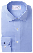 Lorenzo Uomo Texture Trim Fit Dress Shirt