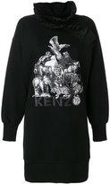 Kenzo animal kingdom print sweat dress