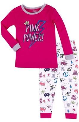 Little Star Organic Baby Toddler Girl Snug Fit Cotton Long Sleeve Pajamas, 2pc Set