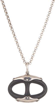 Hermes Estate Chaine d'Andre Wood Pendant Necklace