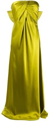 Alberta Ferretti Bow Detail Long Dress