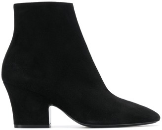 Salvatore Ferragamo Curved Heel 75mm Ankle Boots