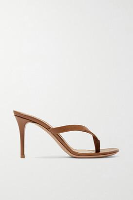 Gianvito Rossi Calypso 70 Leather Sandals - Tan