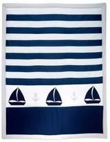 Nautica Mix & Match Striped Sailboat Comforter in Navy/Grey