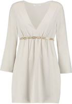 Halston Embellished crepe mini dress
