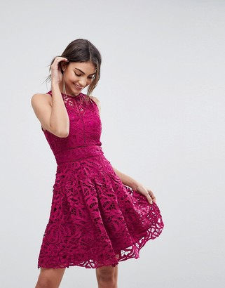 Adelyn Rae Dylan Lace Fit and Flare Dress