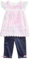Nannette 2-Pc. Lace Shirt & Leggings Set, Toddler & Little Girls (2T-6X)