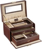Tech Swiss Jewelry Box Genuine Leather Large With Matching Travel Case