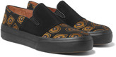 Dries Van Noten - Faille And Jacquard Slip-on Sneakers