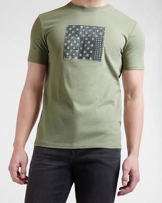 Express Green Patterns Graphic T-Shirt