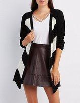 Charlotte Russe Chevron Shaker Knit Cardigan