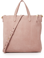 Madewell Suede Mini Transport Tote