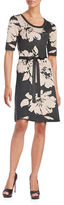 Gabby Skye Printed Scoopneck Dress