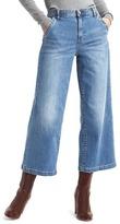 Gap 1969 AUTHENTIC wide-leg crop high rise jeans