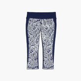 New Balance for J.Crew performance capri leggings in colorblock paisley
