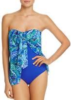 Lauren Ralph Lauren Exotic Flyaway One Piece Swimsuit