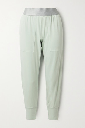 Heroine Sport Stretch-jersey Track Pants - Light green