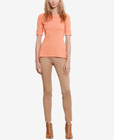 Lauren Ralph Lauren Stretch Boat Neck T-Shirt