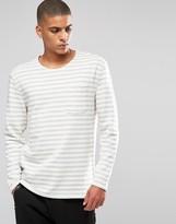 Selected Stripe Sweatshirt