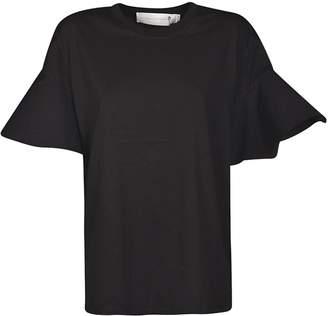 Victoria Beckham Ruffled Cuffs Cotton T-shirt