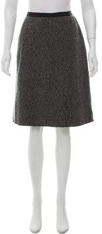 Behnaz Sarafpour Wool Bouclé Skirt