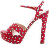 Miu Miu Polka Dot Platform Sandals