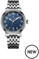 Dreyfuss & Co Dreyfuss Blue Arabic Dial Stainless Steel Stainless Steel Strap Mens Watch
