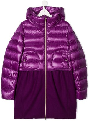 Herno Panelled Puffer Coat