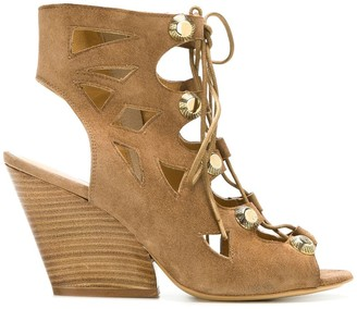 Strategia open-toe lace-up sandals