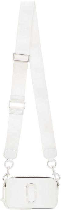 Marc Jacobs White Small Snapshot Camera Bag
