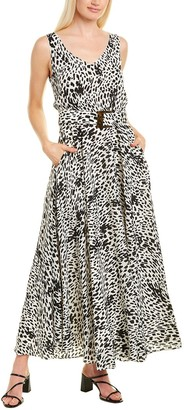 Lafayette 148 New York Memphis Silk Maxi Dress