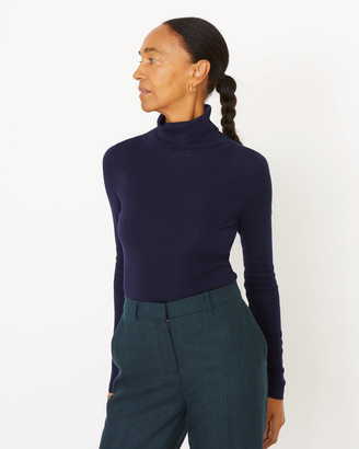 Jigsaw Silk Cotton Polo Neck Jumper