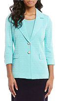 Misook Notch Collar Two-Button Front Jacket