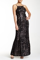 Trixxi Strappy Sequin Embroidered Prom Dress
