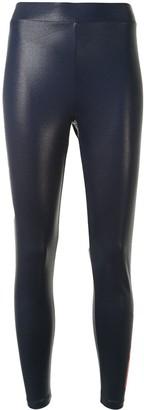 Fila Logo-Print Wet-Look Leggings