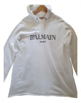 Balmain White Cotton Knitwear & Sweatshirts