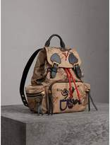 Burberry The Medium Rucksack in Sketch Print Nylon