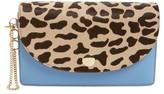 Diane von Furstenberg Convertible Leather & Genuine Calf Hair Saddle Clutch - Brown