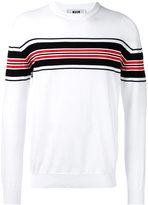 MSGM striped knit jumper - men - Cotton - S